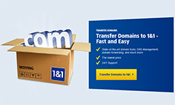 1 and 1 - Low cost domains, start web design and hosting packages